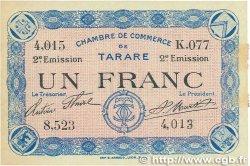 1 Franc FRANCE régionalisme et divers TARARE 1917 JP.119.25 SUP+