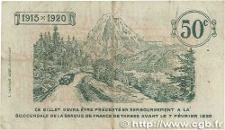 50 Centimes FRANCE régionalisme et divers TARBES 1915 JP.120.01 TB