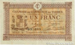 1 Franc FRANCE regionalism and various Tarbes 1915 JP.120.10 VF