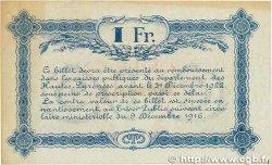 1 Franc FRANCE régionalisme et divers TARBES 1917 JP.120.19 SUP