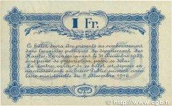 1 Franc FRANCE régionalisme et divers Tarbes 1919 JP.120.23 SUP+