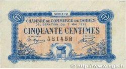 50 Centimes FRANCE régionalisme et divers Tarbes 1922 JP.120.24 TTB+