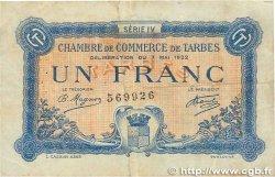 1 Franc FRANCE régionalisme et divers Tarbes 1922 JP.120.25 TB