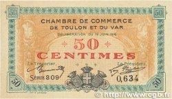 50 Centimes FRANCE régionalisme et divers TOULON 1916 JP.121.01 SUP+