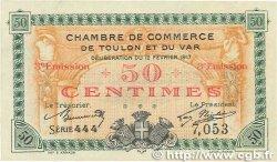 50 Centimes FRANCE régionalisme et divers Toulon 1917 JP.121.10 SUP+