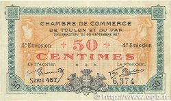 50 Centimes FRANCE régionalisme et divers TOULON 1917 JP.121.18 TTB+