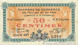 50 Centimes FRANCE régionalisme et divers Toulon 1917 JP.121.22 TTB