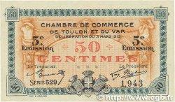 50 Centimes FRANCE régionalisme et divers Toulon 1919 JP.121.26 SUP