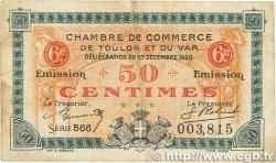 50 Centimes FRANCE régionalisme et divers TOULON 1920 JP.121.30 B