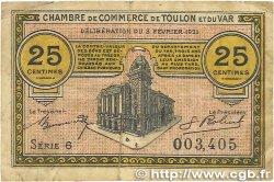25 Centimes FRANCE régionalisme et divers TOULON 1921 JP.121.32 B+