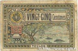 25 Centimes FRANCE régionalisme et divers Toulon 1921 JP.121.32 B