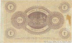 1 Franc FRANCE régionalisme et divers TOULOUSE 1914 JP.122.20 TTB