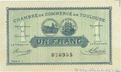 1 Franc FRANCE régionalisme et divers TOULOUSE 1917 JP.122.27 SUP