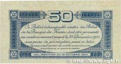 50 Centimes FRANCE régionalisme et divers TOULOUSE 1920 JP.122.39 SUP