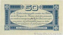 50 Centimes FRANCE régionalisme et divers TOULOUSE 1920 JP.122.39 SUP+