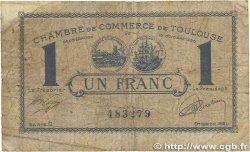 1 Franc FRANCE régionalisme et divers Toulouse 1920 JP.122.43 B