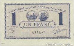 1 Franc FRANCE régionalisme et divers TOULOUSE 1920 JP.122.43 TTB