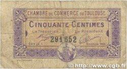 50 Centimes FRANCE régionalisme et divers TOULOUSE 1922 JP.122.44 B
