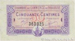 50 Centimes FRANCE régionalisme et divers TOULOUSE 1922 JP.122.44 TTB+