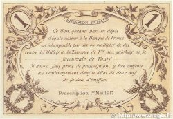 1 Franc FRANCE régionalisme et divers Tours 1915 JP.123.02 SUP+