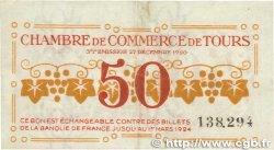 50 Centimes FRANCE régionalisme et divers Tours 1920 JP.123.06 TTB