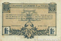 1 Franc FRANCE régionalisme et divers Tours 1920 JP.123.04 TTB