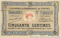 50 Centimes FRANCE régionalisme et divers Troyes 1918 JP.124.05 TTB