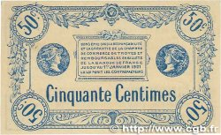 50 Centimes FRANCE régionalisme et divers TROYES 1918 JP.124.05 SUP