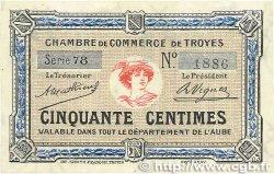50 Centimes FRANCE régionalisme et divers TROYES 1918 JP.124.07 SPL