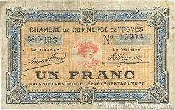 1 Franc FRANCE régionalisme et divers Troyes 1918 JP.124.08 B+