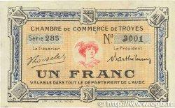 1 Franc FRANCE régionalisme et divers Troyes 1918 JP.124.10 TTB+