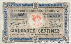 50 Centimes FRANCE régionalisme et divers TROYES 1918 JP.124.13 SPL