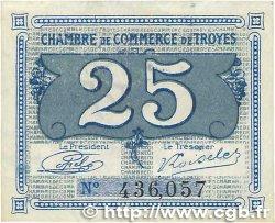 25 Centimes FRANCE régionalisme et divers TROYES 1918 JP.124.15 SUP+