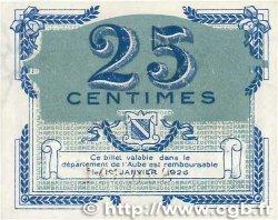 25 Centimes FRANCE régionalisme et divers Troyes 1918 JP.124.15 NEUF