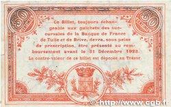 50 Centimes FRANCE régionalisme et divers Tulle 1918 JP.125.01 TTB