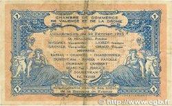 1 Franc FRANCE régionalisme et divers VALENCE 1915 JP.127.03 B+