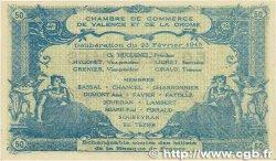 50 Centimes FRANCE régionalisme et divers Valence 1915 JP.127.06 SUP+