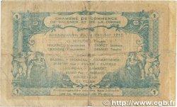 1 Franc FRANCE régionalisme et divers Valence 1915 JP.127.07 B