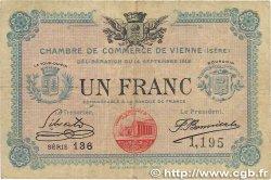1 Franc FRANCE régionalisme et divers VIENNE 1915 JP.128.05 B+