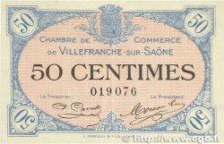 50 Centimes FRANCE régionalisme et divers Villefranche-Sur-Saône 1915 JP.129.01 pr.SPL