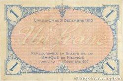 1 Franc FRANCE régionalisme et divers VILLEFRANCHE-SUR-SAÔNE 1915 JP.129.04 TB