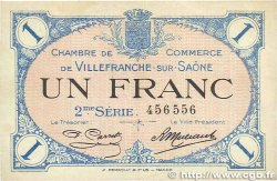 1 Franc FRANCE régionalisme et divers VILLEFRANCHE-SUR-SAÔNE 1918 JP.129.09 TTB