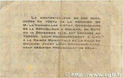 50 Centimes FRANCE régionalisme et divers COLMAR 1918 JP.130.01 B+