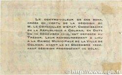 50 Centimes FRANCE régionalisme et divers Colmar 1918 JP.130.01 TB