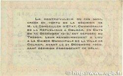 50 Centimes FRANCE régionalisme et divers COLMAR 1918 JP.130.01 TTB
