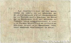 50 Centimes FRANCE régionalisme et divers Colmar 1918 JP.130.02 B