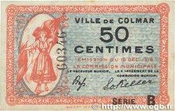 50 Centimes FRANCE régionalisme et divers Colmar 1918 JP.130.02 TTB
