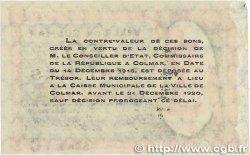 50 Centimes FRANCE régionalisme et divers COLMAR 1918 JP.130.02 TTB+
