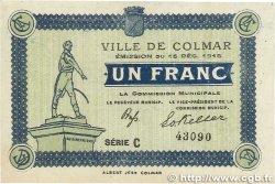 1 Franc FRANCE régionalisme et divers COLMAR 1918 JP.130.03 SUP+