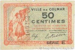 50 Centimes FRANCE régionalisme et divers Colmar 1918 JP.130.05 B